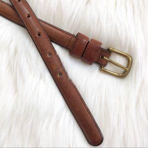 "Coach 1/4"" Slim Leather Belt Size 26 - Waist Belt"